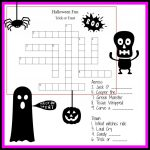 Halloween Crossword & Puzzles For Kids | ~All Hallows Eve   Halloween Crossword Puzzle Printable 3Rd Grade