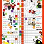 Halloween Crossword Worksheet   Free Esl Printable Worksheets Made   Halloween Crossword Puzzle Printable 3Rd Grade
