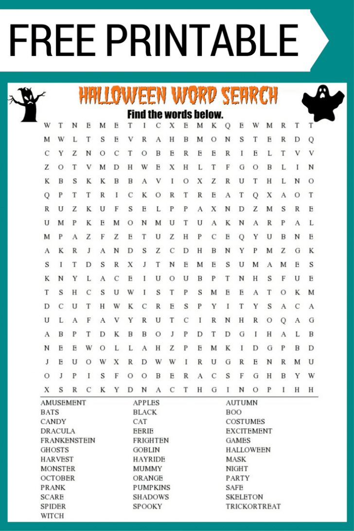 Printable Halloween Crossword Puzzles Word Searches