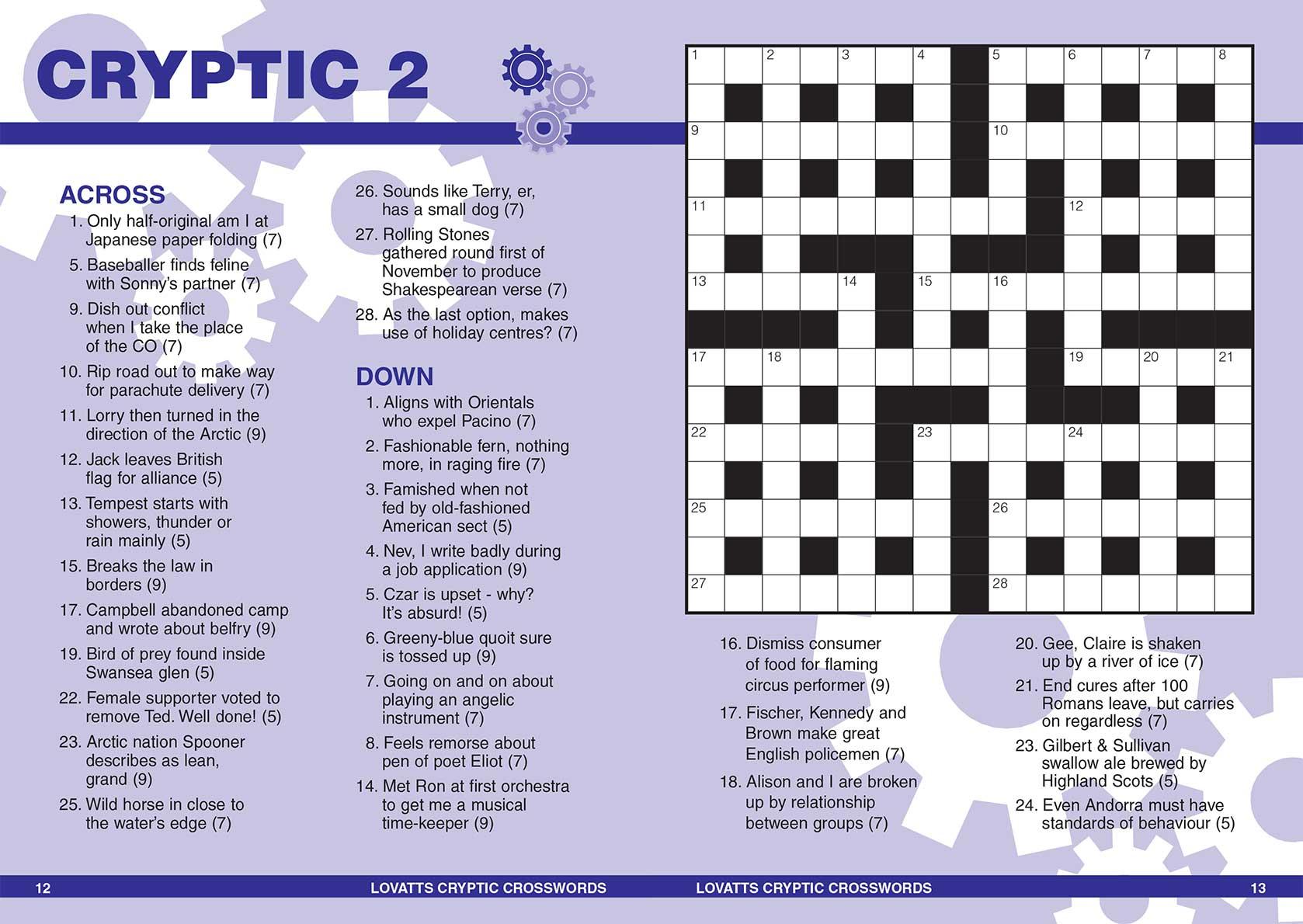 Handy Cryptic Crosswords Magazine - Lovatts Crosswords & Puzzles - Printable Cryptic Crossword Puzzles Nz