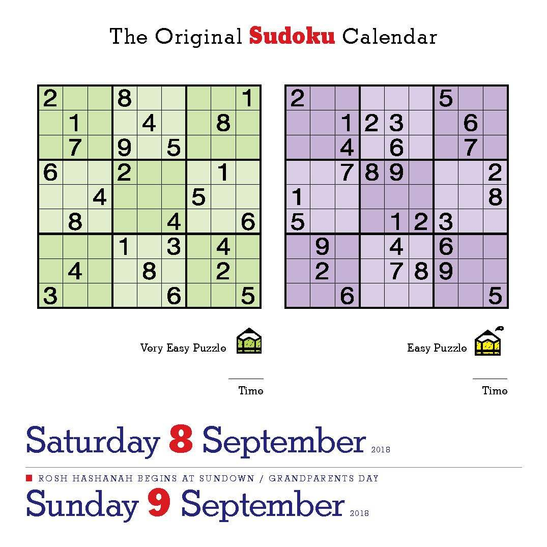 Happy International Sudoku Day! Page-A-Day - Printable Mensa Puzzles