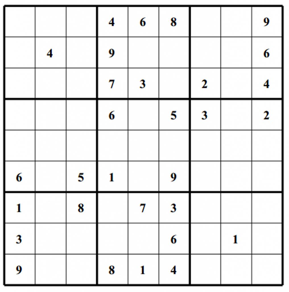 Hard Puzzle | Free Sudoku Puzzles | Printable Sudoku 4 Per Page - Printable Sudoku Puzzles Krazydad