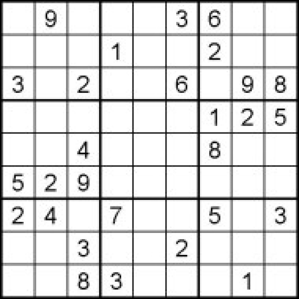 Hard Sudoku Puzzles For Kids - Free Printable Worksheets Pertaining - Printable Sudoku Puzzles Hard