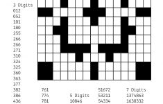 Number Crossword Puzzles Printable