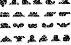 Heart Tangram 2 – Solutions | Heart Tangram 2 – Tangram Printable – Printable Tangram Puzzles And Solutions