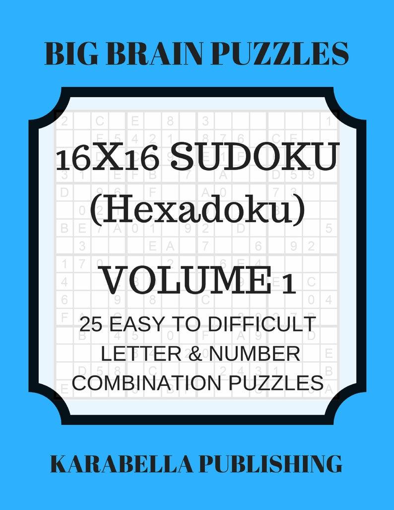 Hexadoku Sudoku 16X16 16X16 Sudoku Sudoku Print Mega | Etsy - Printable Hexadoku Puzzles