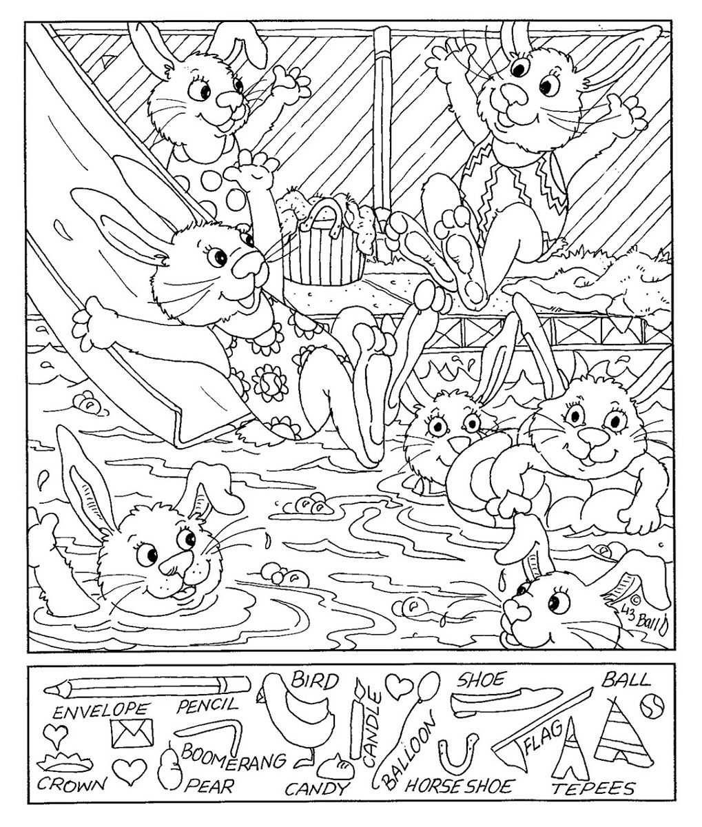 Hidden Picture Worksheet For Middle School | Kiddo Shelter - Printable Hidden Object Puzzles For Adults