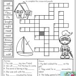 Homophones: Crossword Puzzle  Read The Clues And Use The Word Bank   Printable Crossword Puzzles For 2Nd Graders