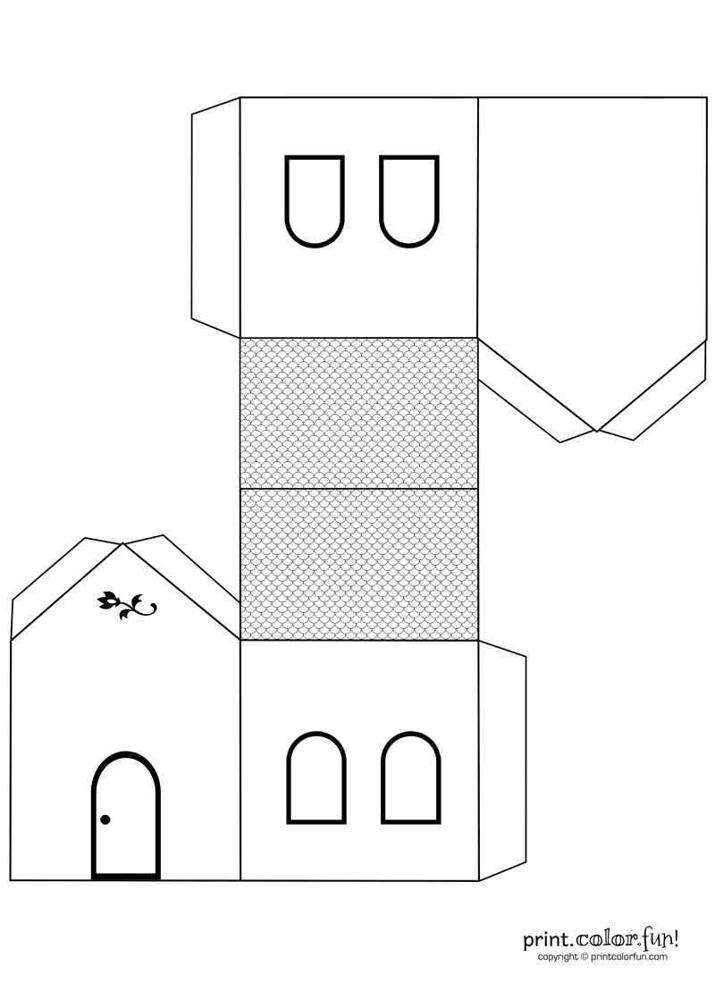 House Cutout Craft To Color | Print. Color. Fun! Free Printables - Free Printable 3D Puzzles