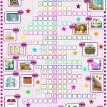 House:crossword Puzzle Worksheet   Free Esl Printable Worksheets   Printable House Puzzle