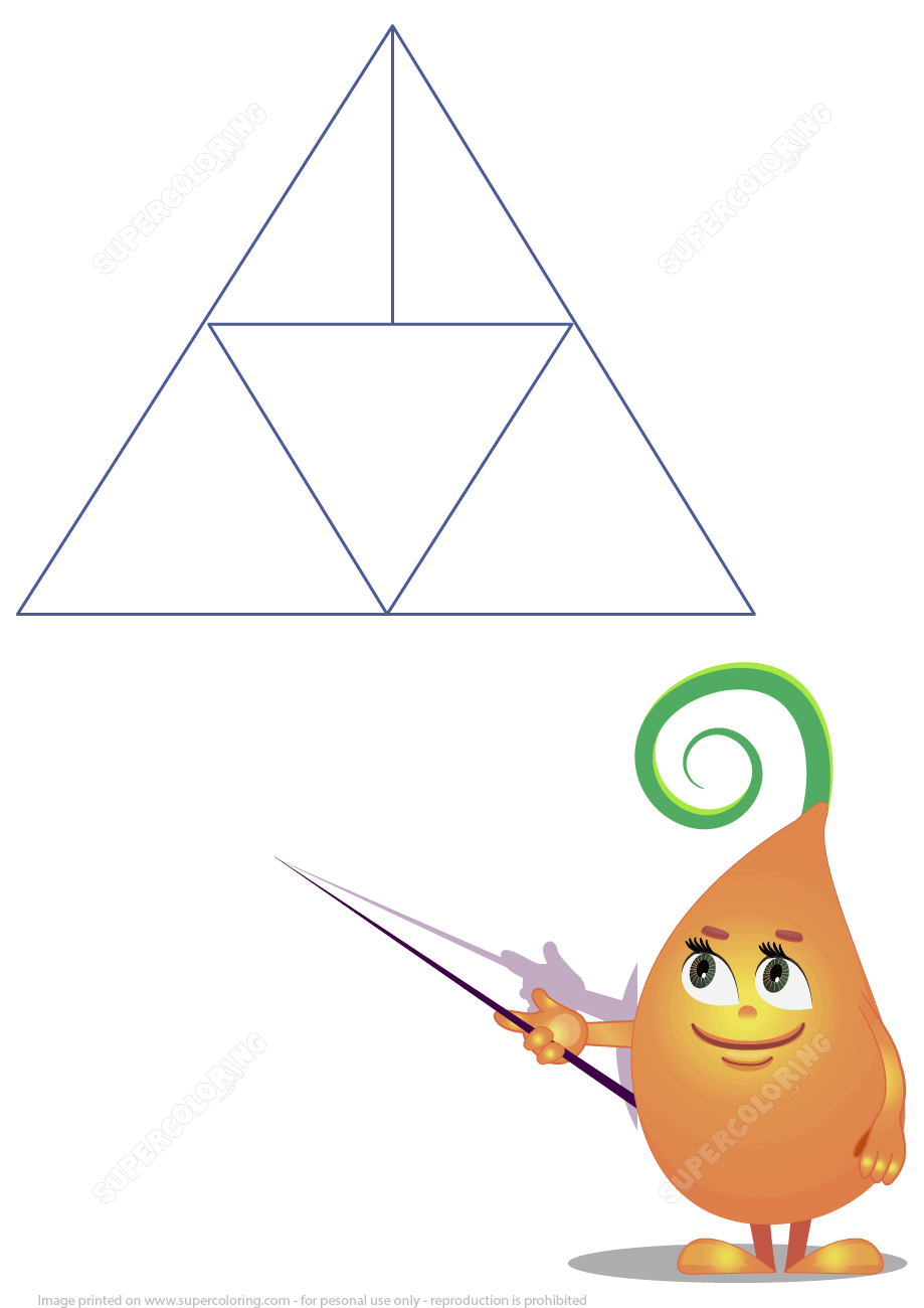 How Many Triangles Are There? | Free Printable Puzzle Games - Printable Triangle Puzzle