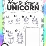 How To Draw A Unicorn   Free Printable   Growing Play   Printable Unicorn Puzzle