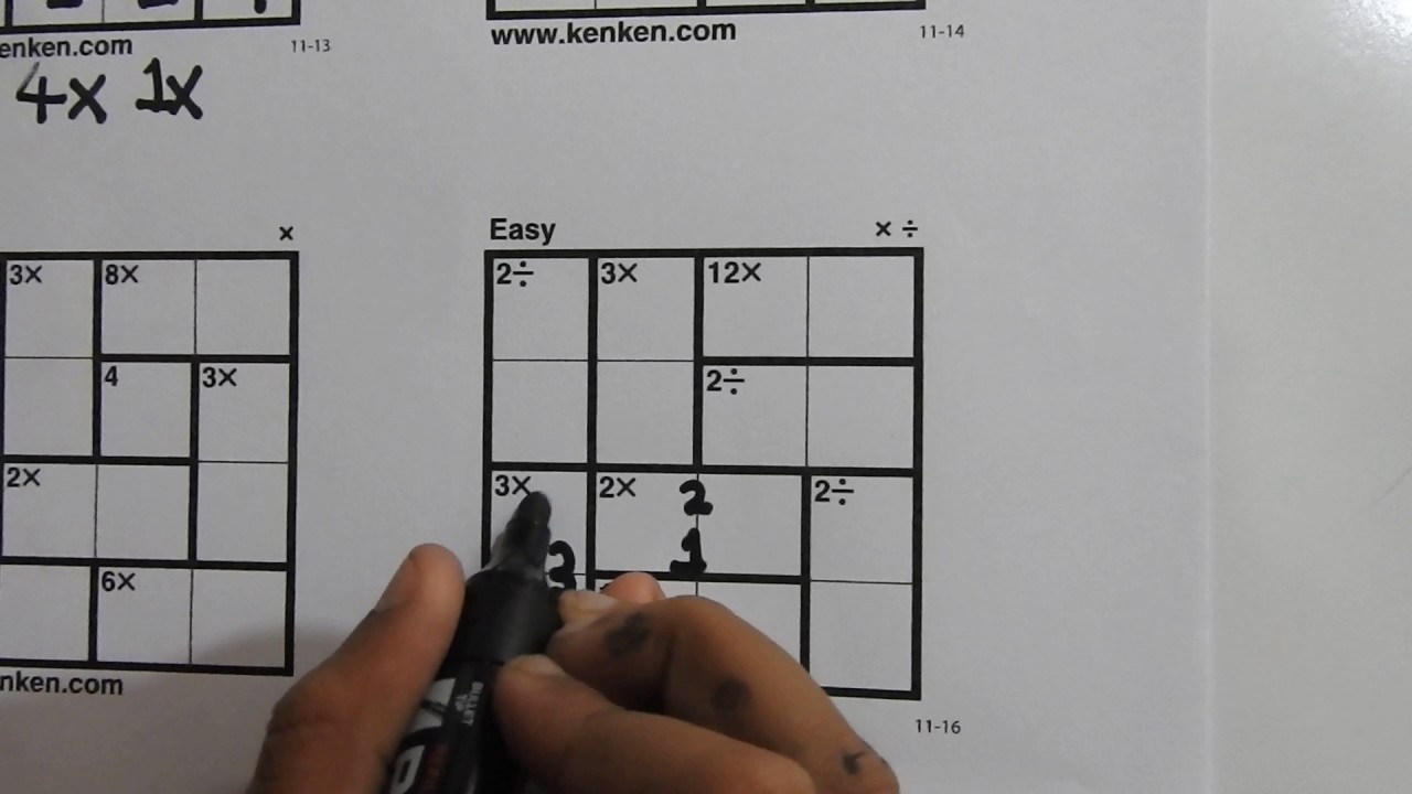 How To Solve 4X4 Kenken Puzzles - Learn In 5 Minutes - Youtube - Printable Kenken Puzzles