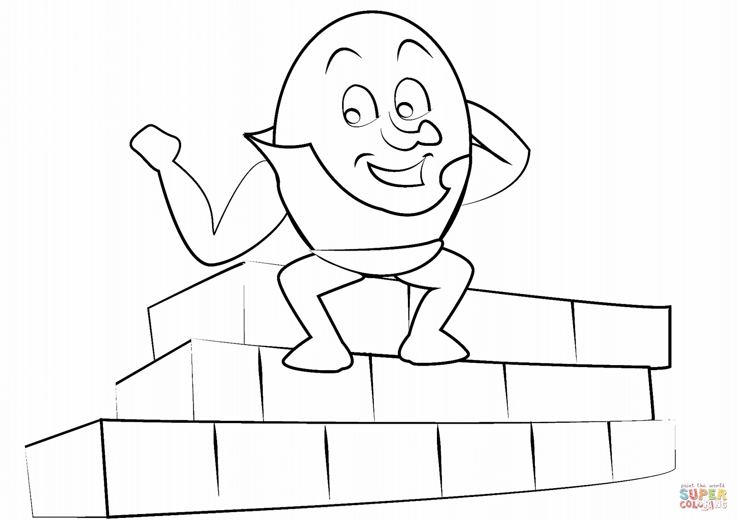 Humpty Dumpty Coloring Page | Free Printable Coloring Pages - Printable Humpty Dumpty Puzzle