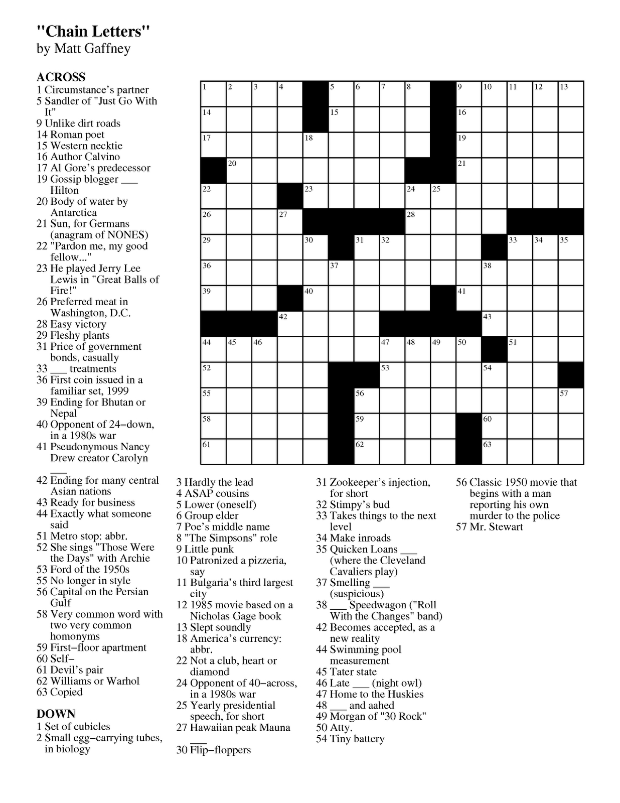 Images: Play Free Easy Crossword Puzzles, - Best Games Resource - Crossword Puzzles Printable 1980S