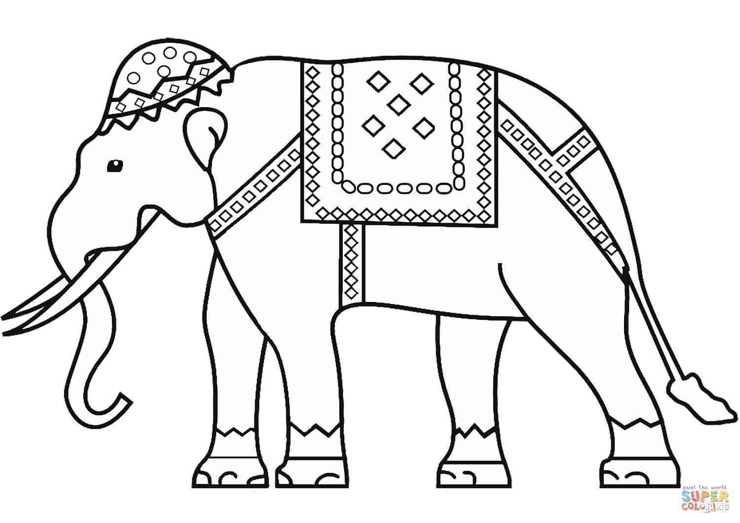 Indian Elephant Coloring Page   Free Printable Coloring Pages - Printable Elephant Puzzle