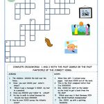 Irregular Verbs   Crossword Puzzles Worksheet   Free Esl Printable   Crossword Puzzle Verbs Printable