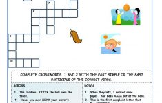 Verbs Crossword Puzzle Printable