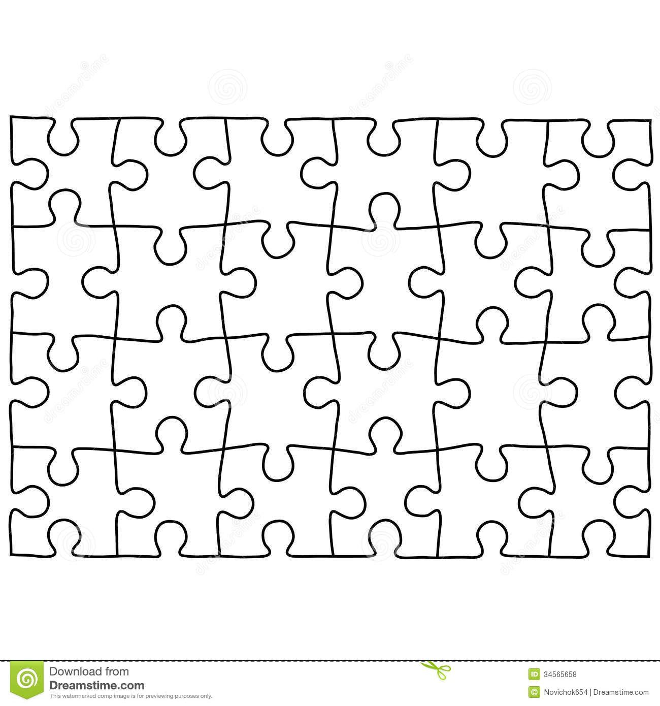 Jigsaw Puzzle Design Template   Free Puzzle Templates 1300.1390 - Printable Jigsaw Puzzle Maker