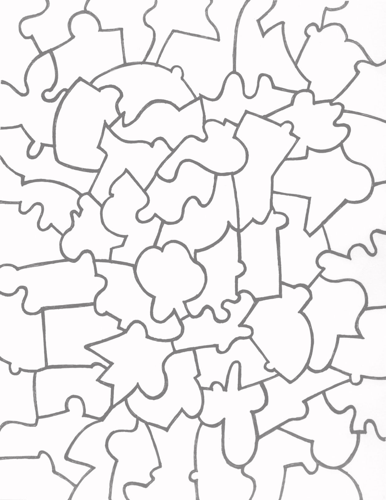 Jigsaw+Puzzle+Template+Printable | Vector | Free Printable Puzzles - Printable Jigsaw Puzzles For Middle School