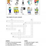 Jobs Crossword Worksheet   Free Esl Printable Worksheets Made   Printable Crossword Puzzles Job