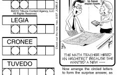 Printable Jumble Crosswords