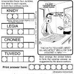 Jumble Archives | Tribune Content Agency   Printable Daily Jumble Puzzle