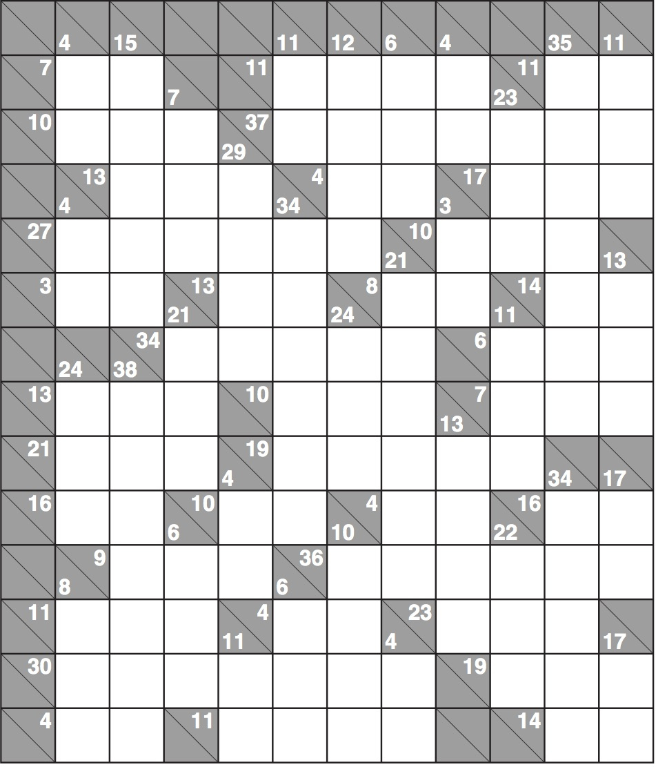 Kakuro 1568 Hard | Life And Style | The Guardian - Printable Puzzles Kakuro