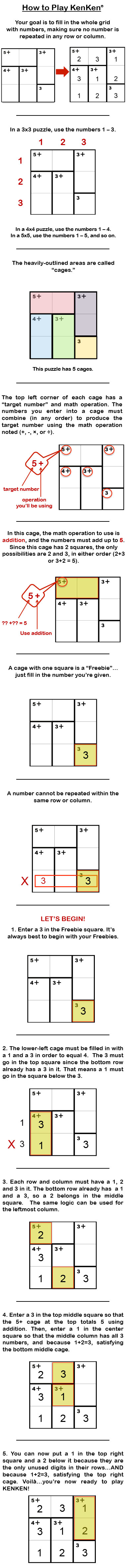 Kenken Puzzle Rules - How To Play This Amazing Puzzle & Brain Teaser! - Printable Kenken Puzzles 4X4