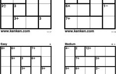 Kenken Puzzles Printable (98+ Images In Collection) Page 1 – Printable Kenken Puzzles