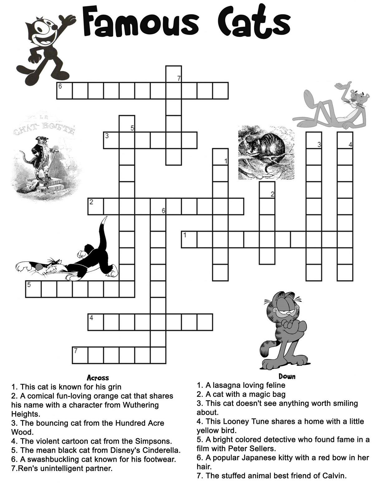 Kids' Crossword Puzzles To Print | Activity Shelter - Printable Cartoon Crossword Puzzles