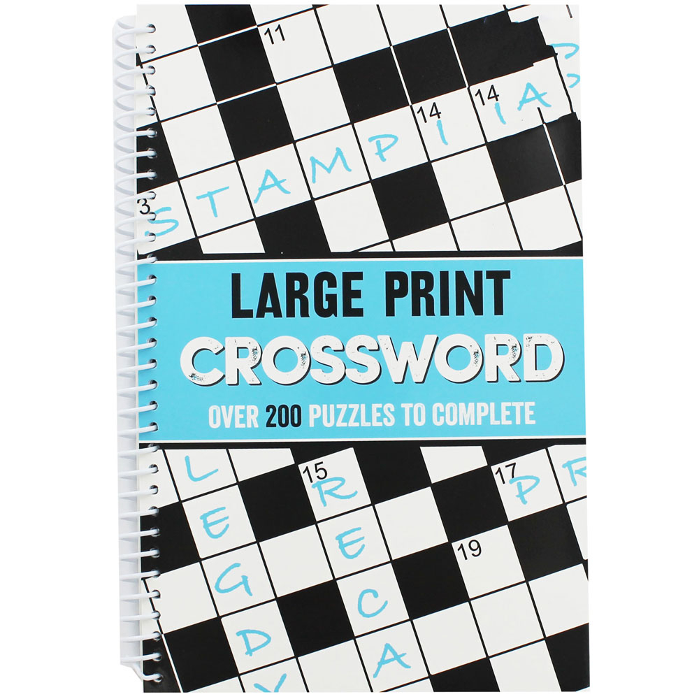 Large Print Crossword   Crossword Books At The Works - Large Print Crossword Puzzle Books