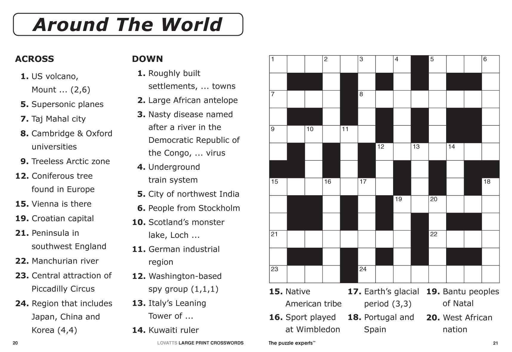 Large Print Crosswords Magazine - Lovatts Crossword Puzzles Games - Large Print Crossword Puzzles Online