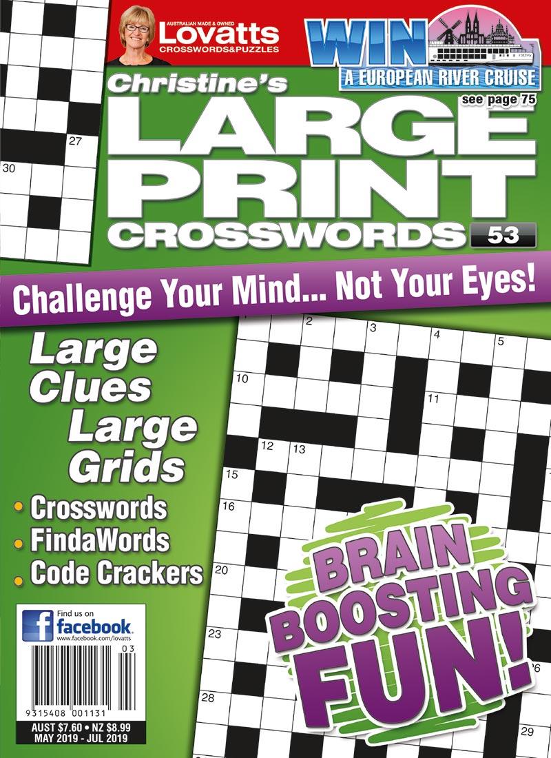 Large Print Crosswords Magazine - Lovatts Crossword Puzzles Games - Universal Crossword Puzzle Printable