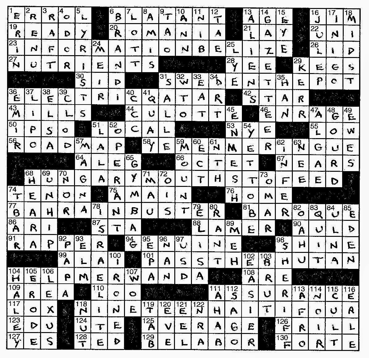 Lem's Levity: Port Cities - Frank A Longo Printable Crossword Puzzles