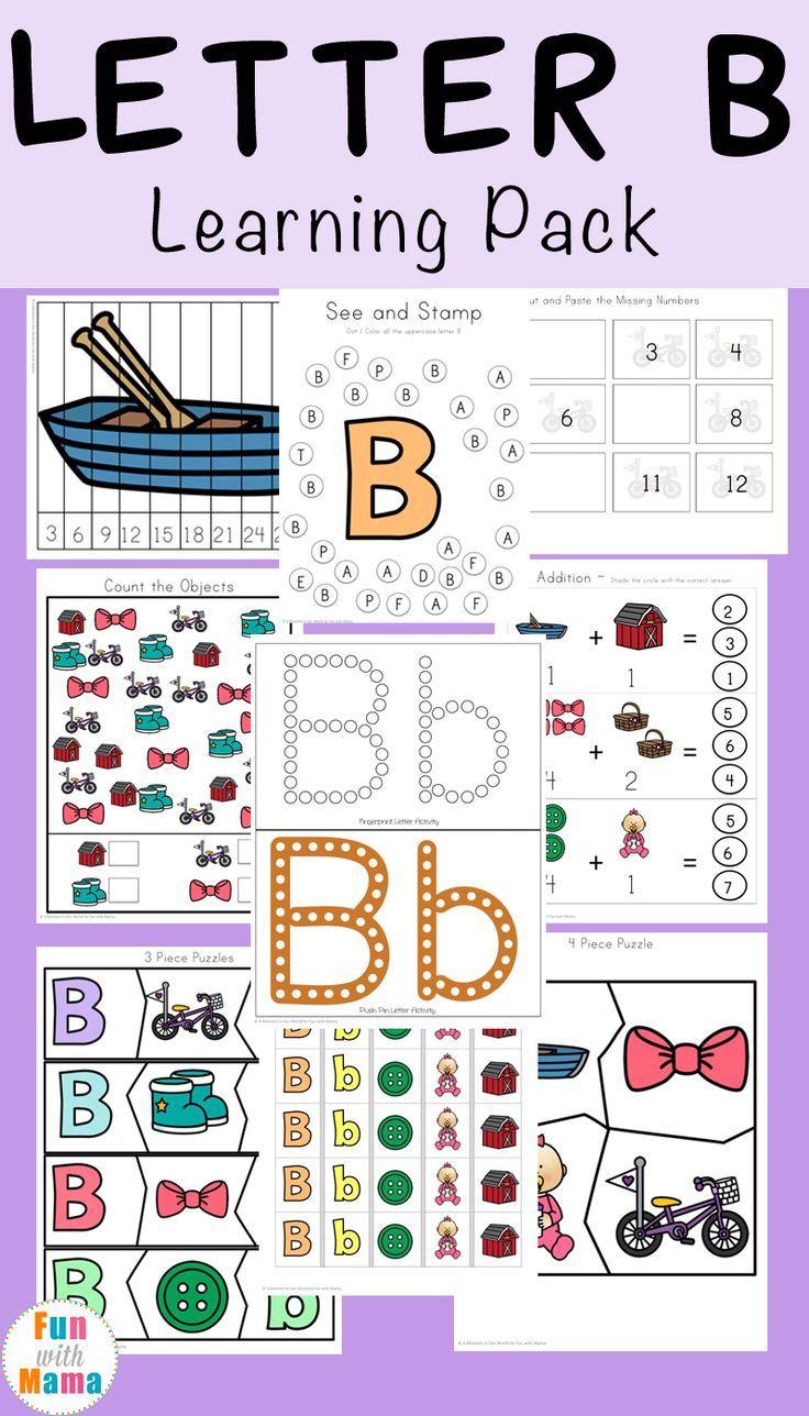Letter B Preschool Printable Pack | Toddler Activities | Letter B - Letter B Puzzle Printable