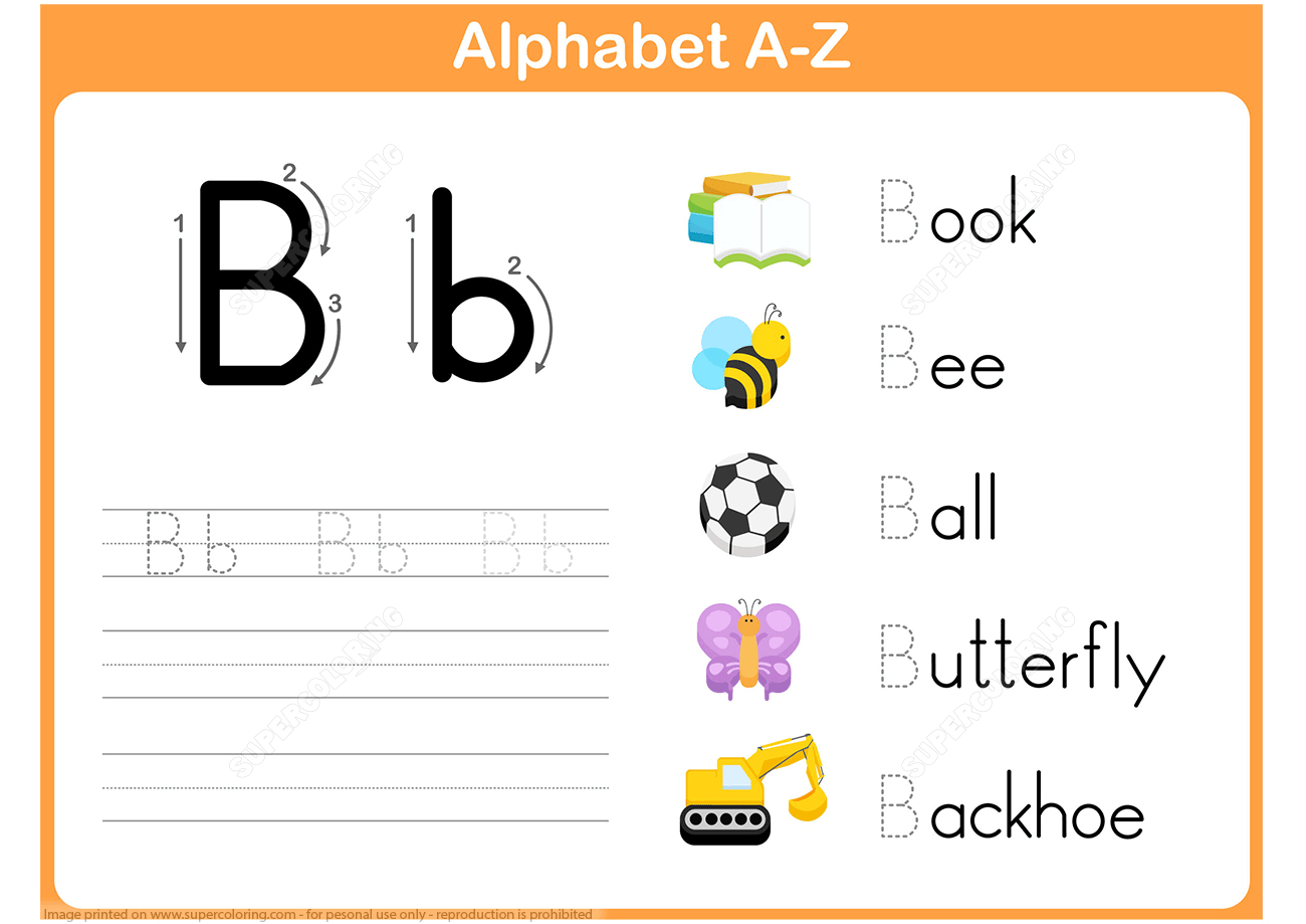 Letter B Tracing Worksheet | Free Printable Puzzle Games - Letter B Puzzle Printable