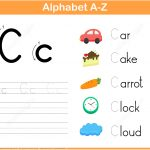 Letter C Tracing Worksheet | Free Printable Puzzle Games   Letter C Puzzle Printable
