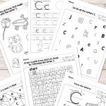 Letter C Worksheets   Alphabet Series   Easy Peasy Learners   Letter C Puzzle Printable