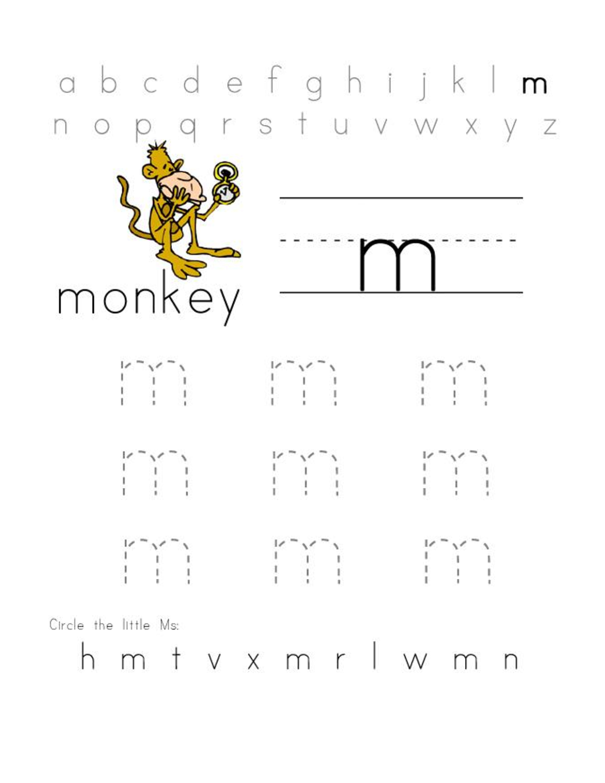 Letter M Worksheets   Activity Shelter - Letter M Puzzle Printable