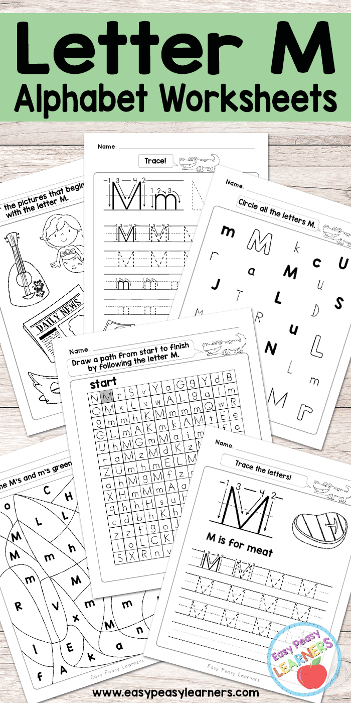 Letter M Worksheets - Alphabet Series - Easy Peasy Learners - Letter M Puzzle Printable