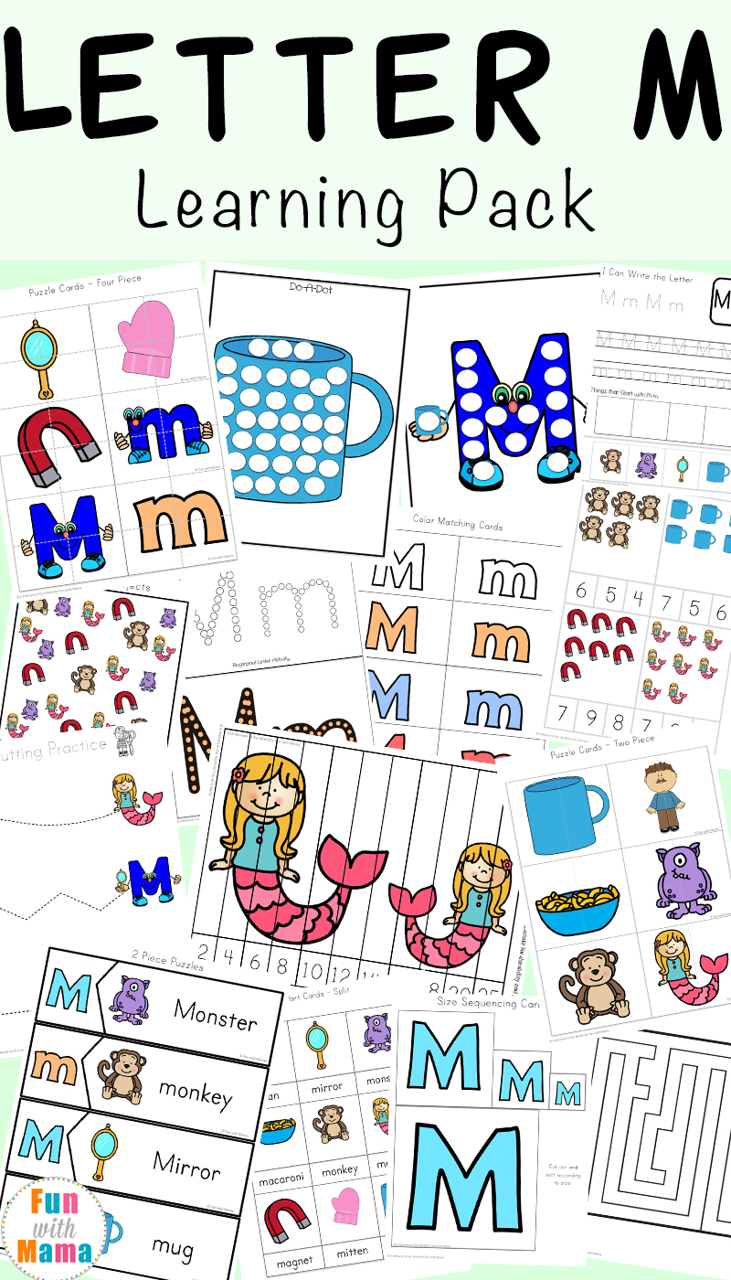Letter M Worksheets - Fun With Mama - Letter M Puzzle Printable