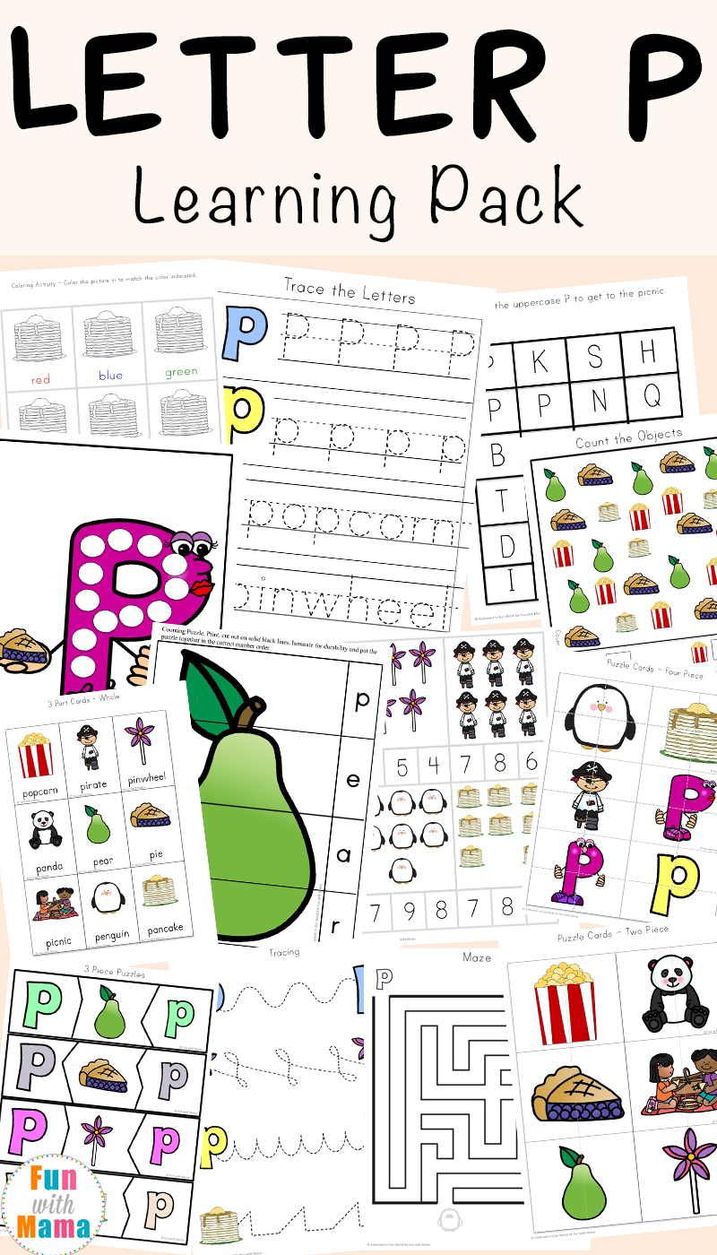 Letter P Worksheets + Printables - Fun With Mama - Printable Letter Puzzle