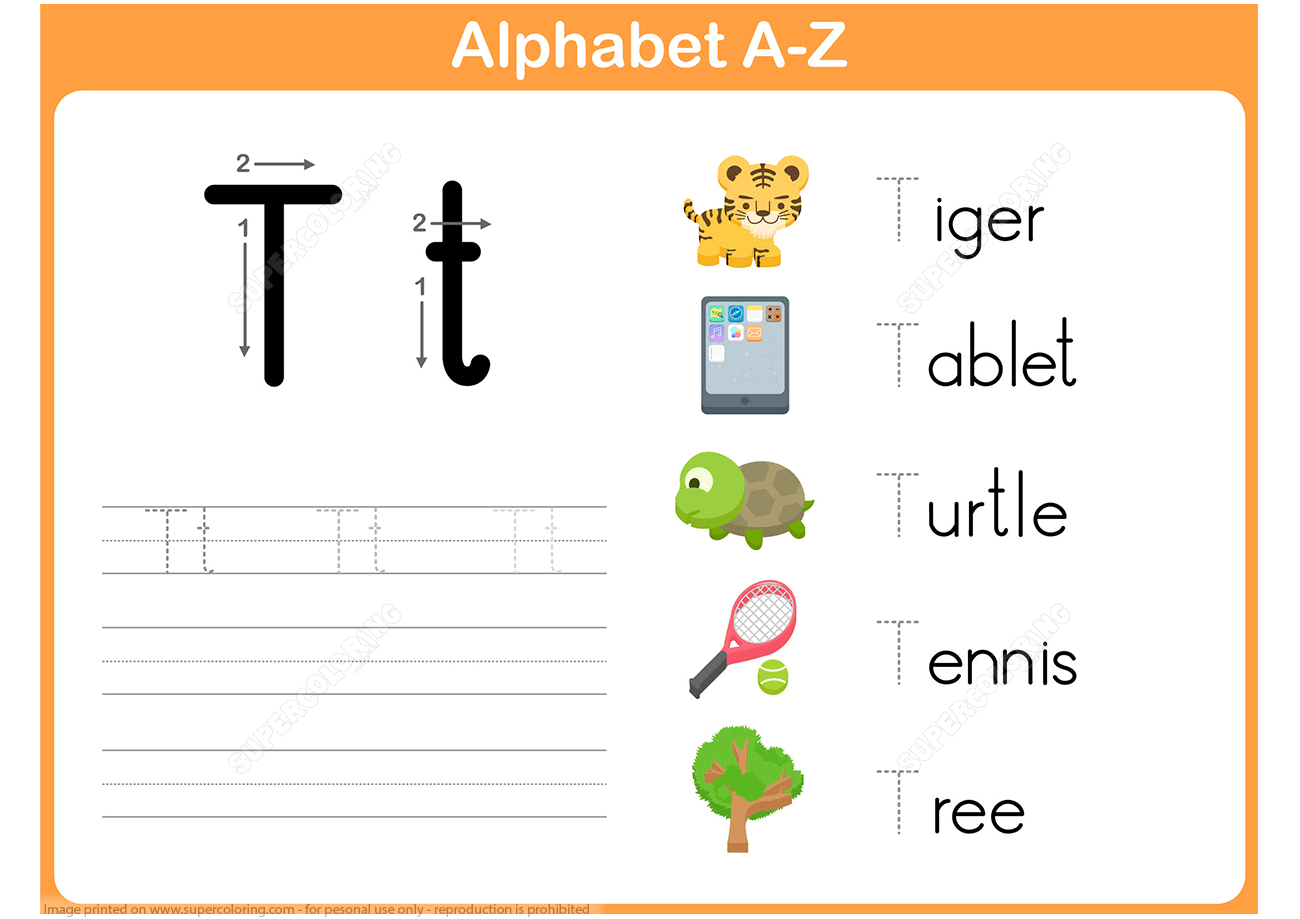 Letter T Tracing Worksheet | Free Printable Puzzle Games - Letter T Puzzle Printable