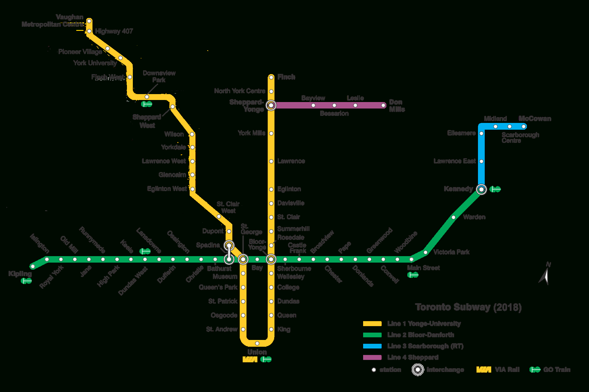List Of Toronto Subway Stations - Wikipedia - Printable Crossword Metro