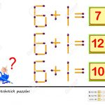 Logic Puzzle Game. In Each Task You Must Move 1 Matchstick To   Printable Matchstick Puzzles