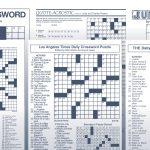 Los Angeles Times Sunday Crossword Puzzle | Tribune Content Agency   Chicago Sun Times Crossword Puzzle Printable