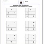 Magic Square Puzzles This Page Has 3X3, 4X4 And 5X5 Magic Square   Printable Kenken Puzzles 4X4