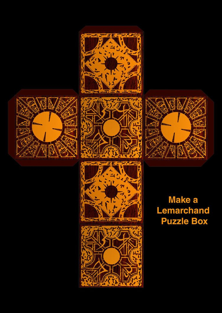 Make A Lemarchands Boxsupersmeg123 On Deviantart   Chaz   Diy - Printable Hellraiser Puzzle Box