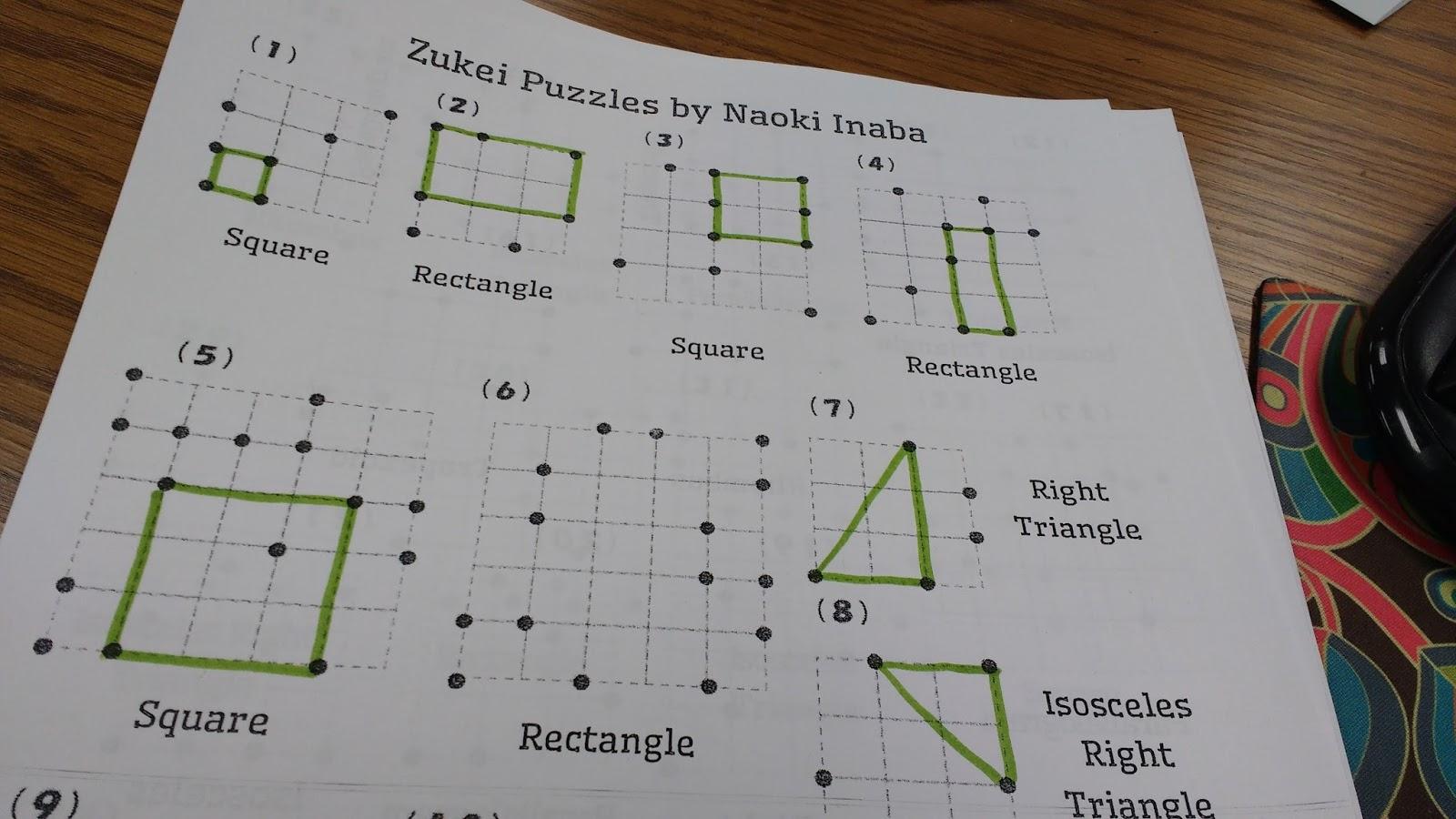 Math = Love: Zukei Puzzles For Practicing Geometric Vocabulary - Printable Tarsia Puzzles English